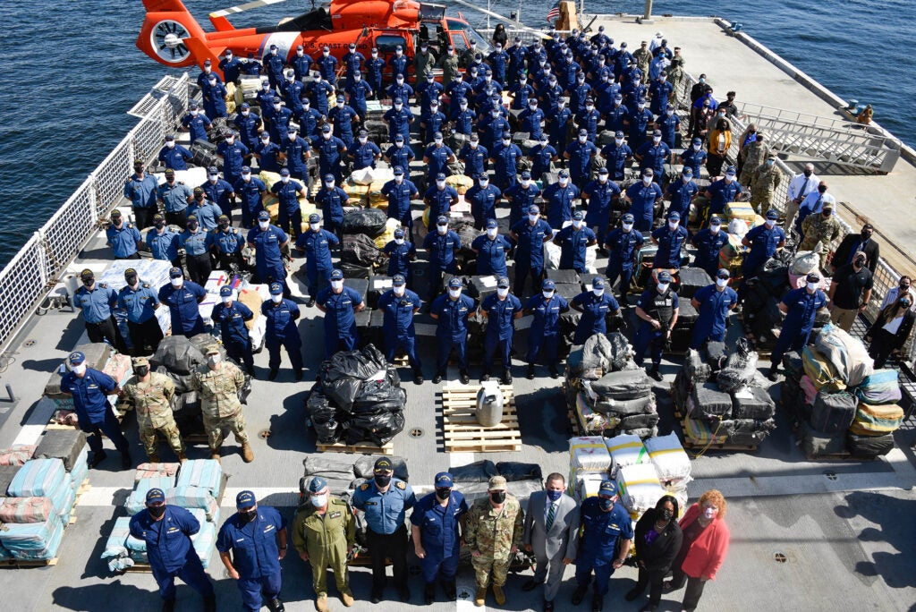 The Coast Guard belatedly celebrated its birthday with a record amount of drugs