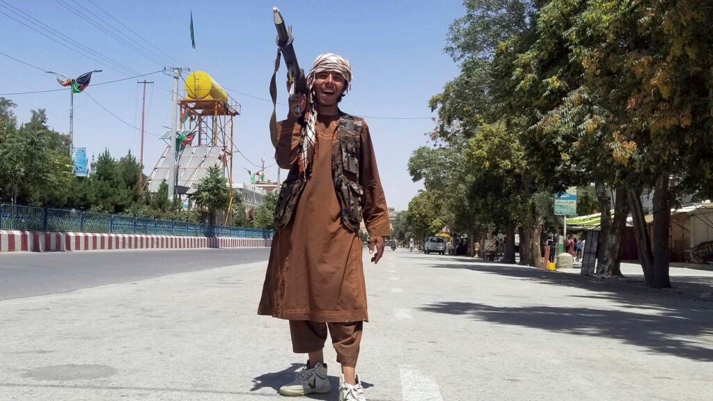 The White House is now fighting a Taliban onslaught with sternly-worded statements