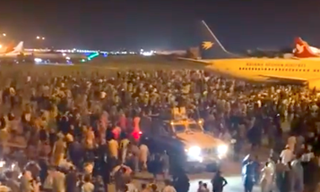 Videos show desperation at Kabul airport as Afghans and foreigners try to escape the Taliban