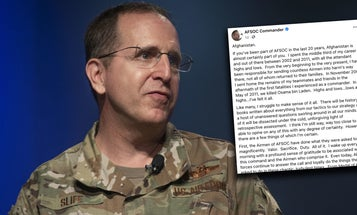 'I struggle to make sense of it all' — Top Air Force commando echoes how many feel about Afghanistan
