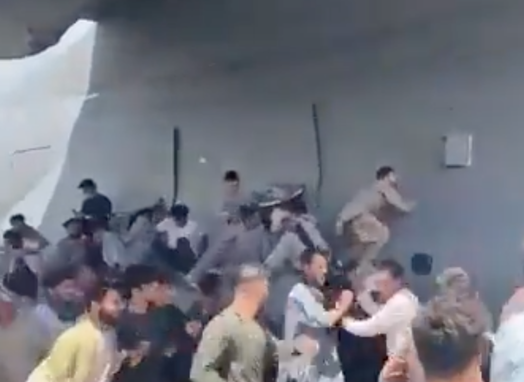 Afghan man filmed himself trying to escape Kabul on side of C-17 during takeoff