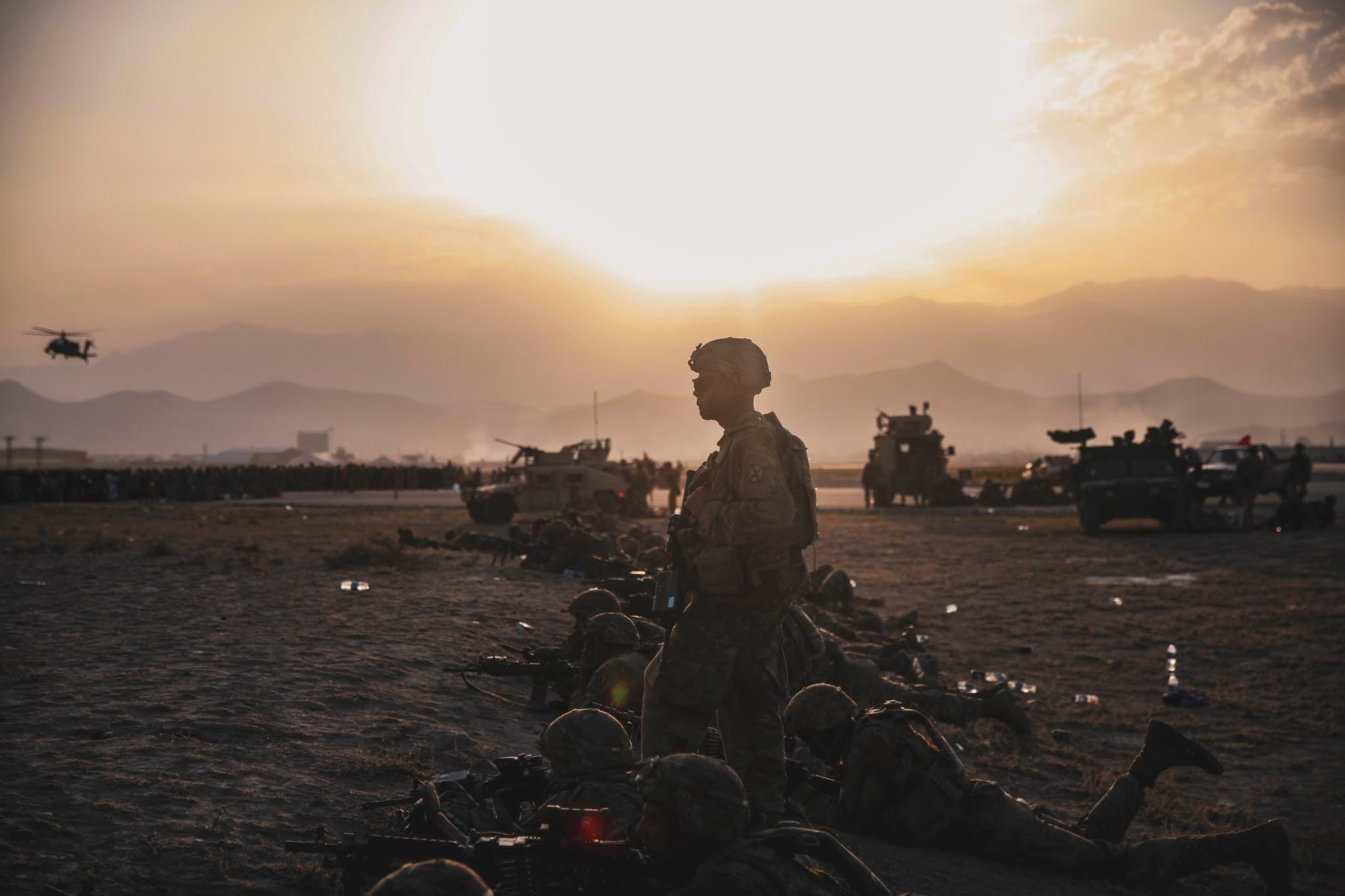 Crowds, chaos, and Taliban fighters everywhere: What US troops are seeing on the ground in Afghanistan