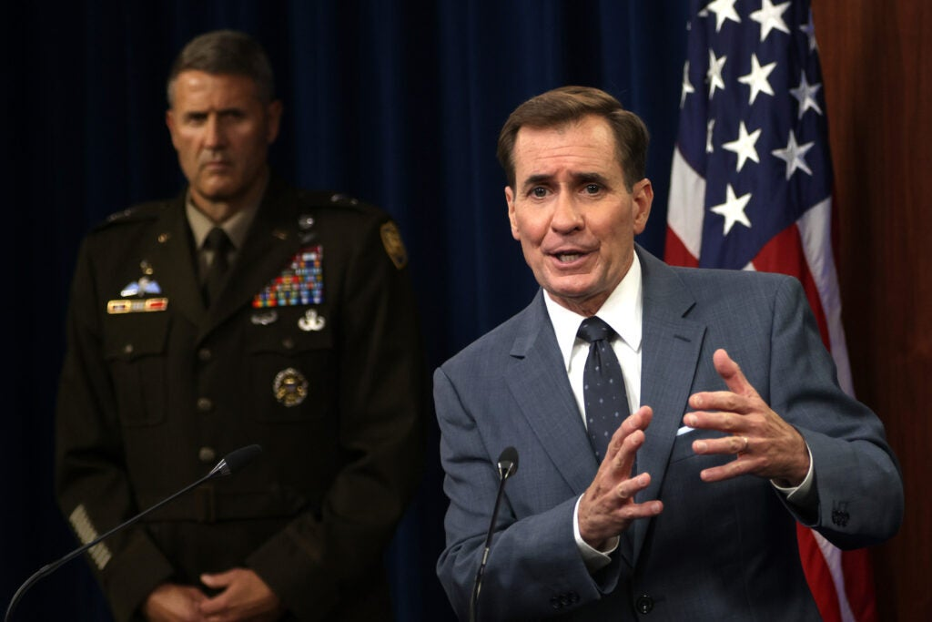 Pentagon Press Secretary John Kirby Holds Briefing At Pentagon