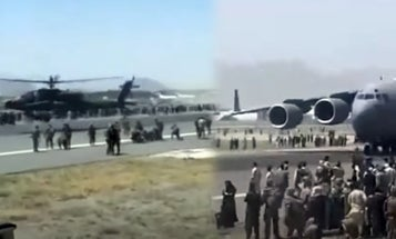 The chaos at Kabul's airport from the point of view of an American soldier