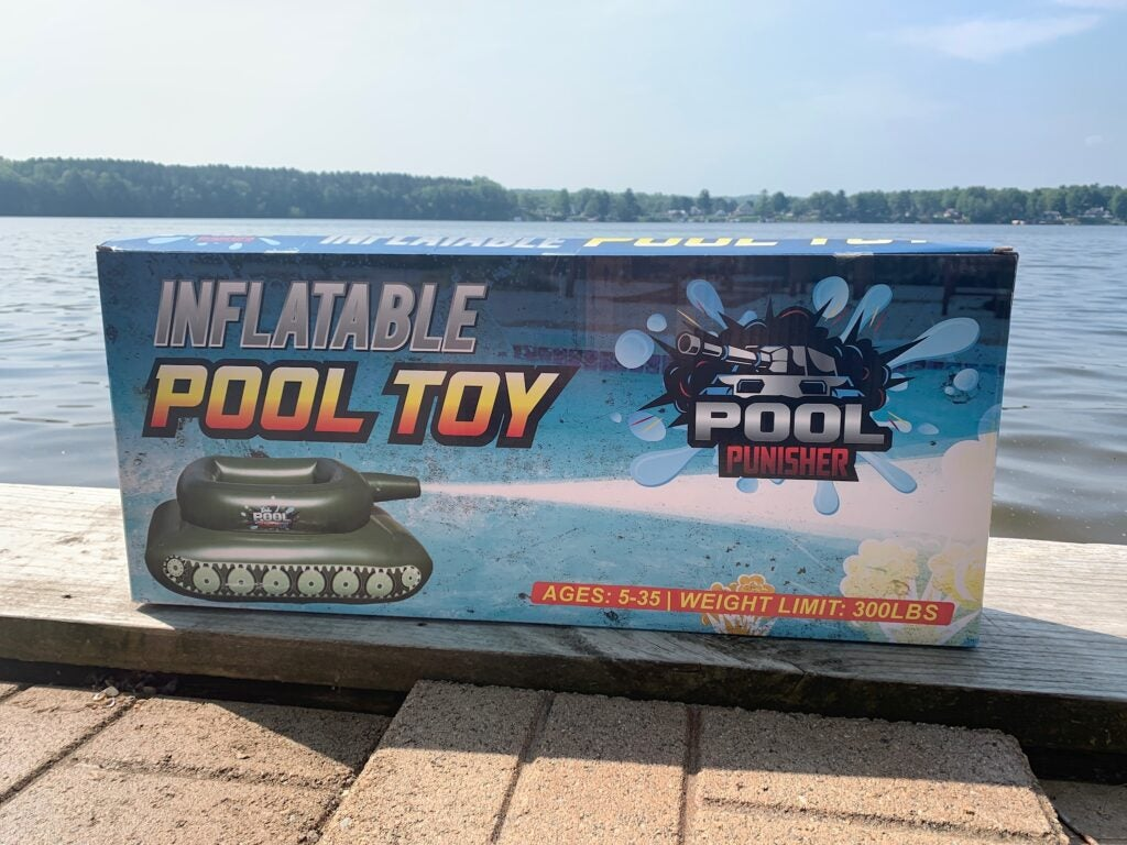 Review: Dominate the water in the cavalry-tested Pool Punisher inflatable tank