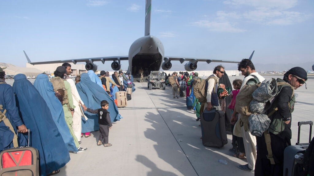 Afghan baby named 'Reach' after the Air Force C-17 she was born on