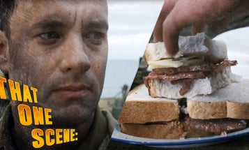 One of the most telling scenes in 'Saving Private Ryan' involved a sidelong glance at a sandwich