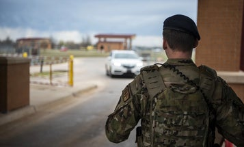 'That's what I'm here for' — What it's like to deploy the barriers at a military base gate