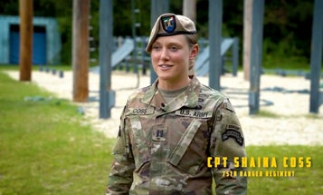 Meet the first woman to lead elite Army Rangers in combat