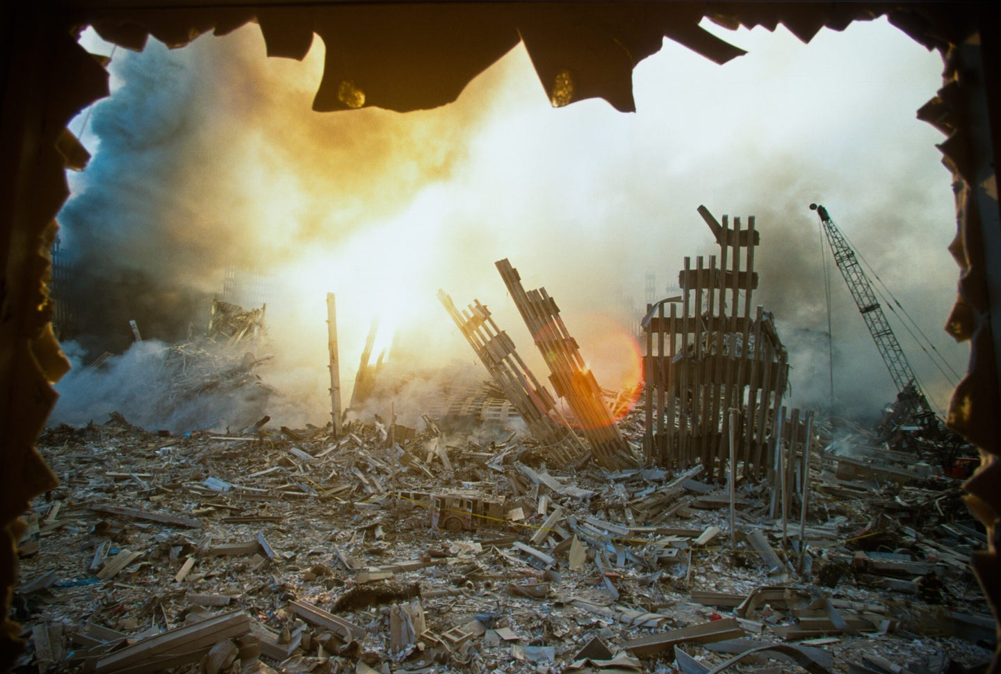 The Rubble of the World Trade Center on September 12, 2001
