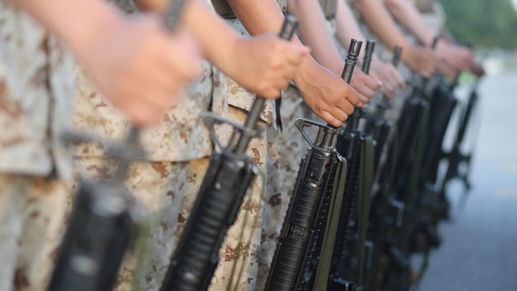 A Marine Corps recruit died on his first training day at boot camp