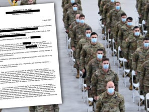 Army refuses to say whether officer's resignation letter citing 'Marxist takeover of the military' is real