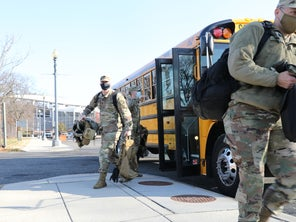 'School bus driver' is the latest job for National Guard troops