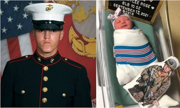 'You blessed us with light and love' — America welcomes baby girl of Marine killed in Kabul