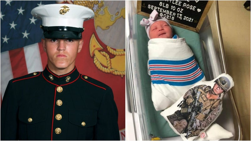 'That little girl has an entire brotherhood behind her' — America welcomes baby girl of Marine killed in Kabul