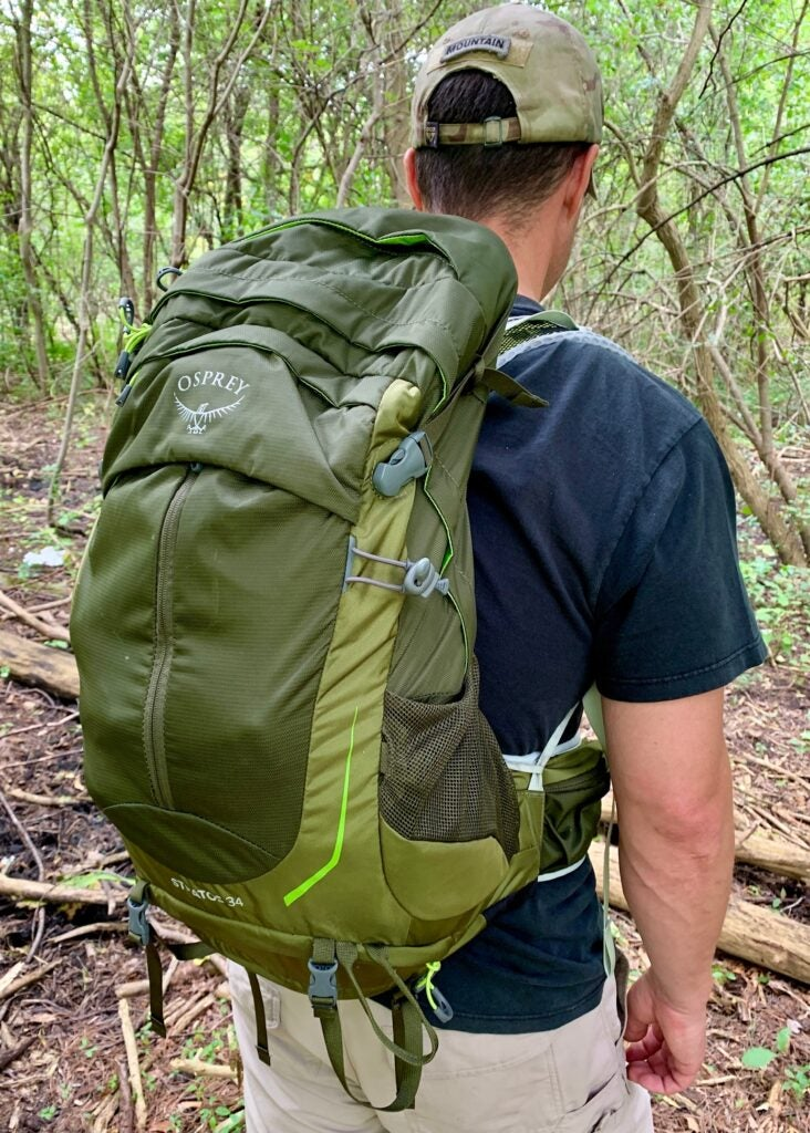 Review: the Osprey Stratos 34 hiking backpack is so light you might forget you're wearing it
