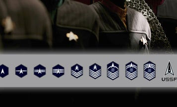 The Space Force enlisted rank insignia are here, and they look a lot like 'Star Trek'