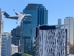 Watch an Australian C-17 weave between skyscrapers in 'insane' video