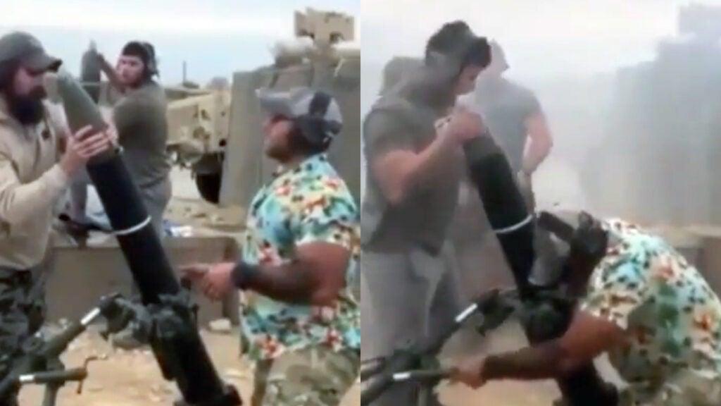 hawaiian shirt mortar guy
