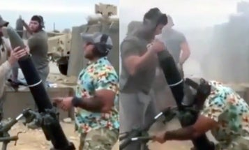 Video shows soldier in Hawaiian shirt firing mortar during 'casual Friday' mission in Afghanistan