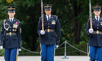 The Tomb of the Unknown Soldier was guarded by an all-woman team for the first time ever