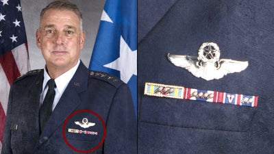 There's a good reason why this Air Force general only wears 3 ribbons on his dress uniform