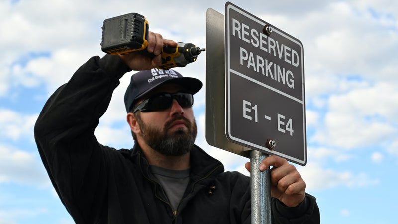 An Air Force base is setting up reserved parking just for junior enlisted